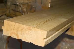 Половая доска из лиственницы толщиной 45 мм